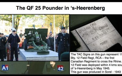 TAC Signs on 25 Pounder 12th Field RCA