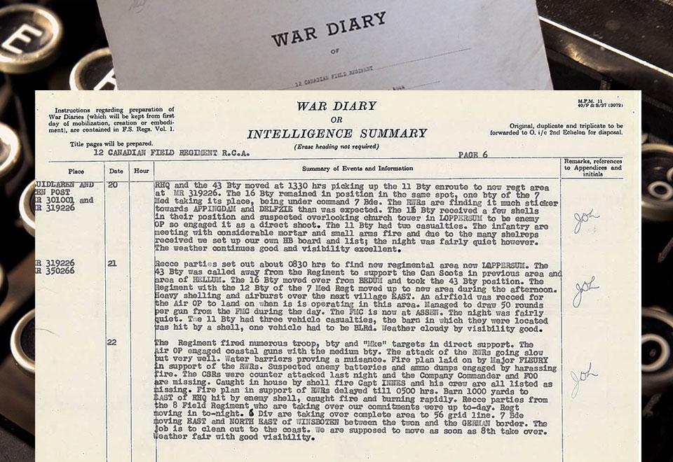 12th-field-war-diary-April-20-1945