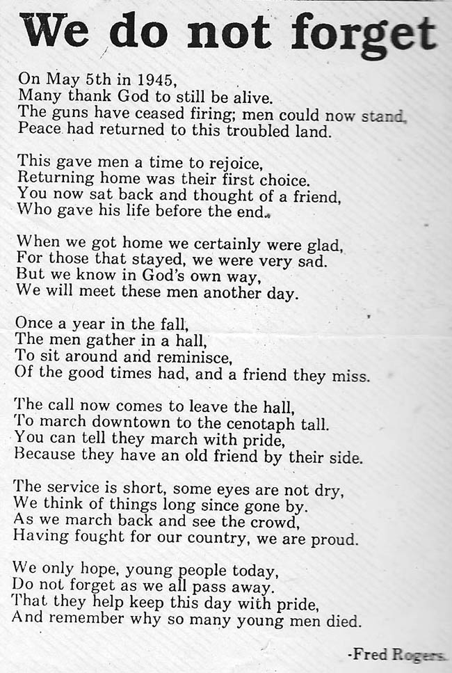 Poem by Fred Buck- Rogers-12thField