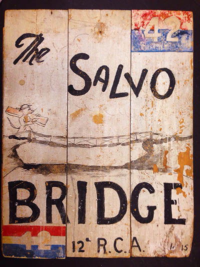Salvo Bridge sign-12th Field-original