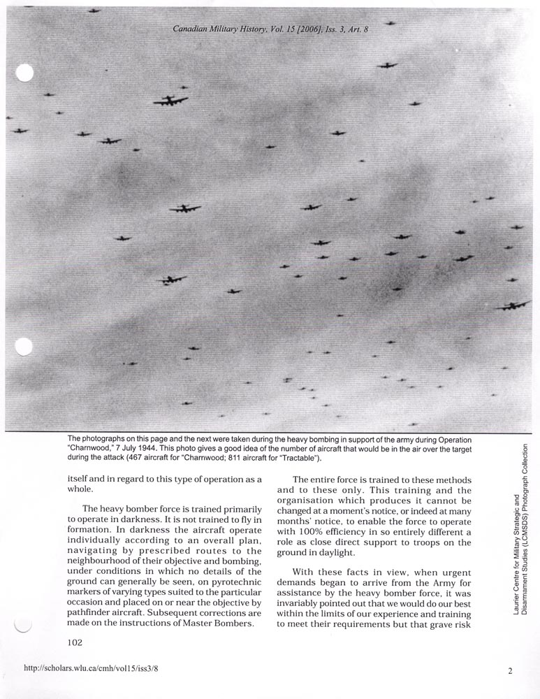 Bombing Aug. 14th 1944- OP Tractable