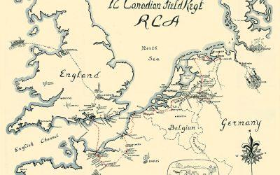 12th Field Regiment Field Locations
