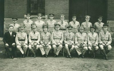 Officers of the 43rd Battery in 1940 from the 12th Field Regiment RCA