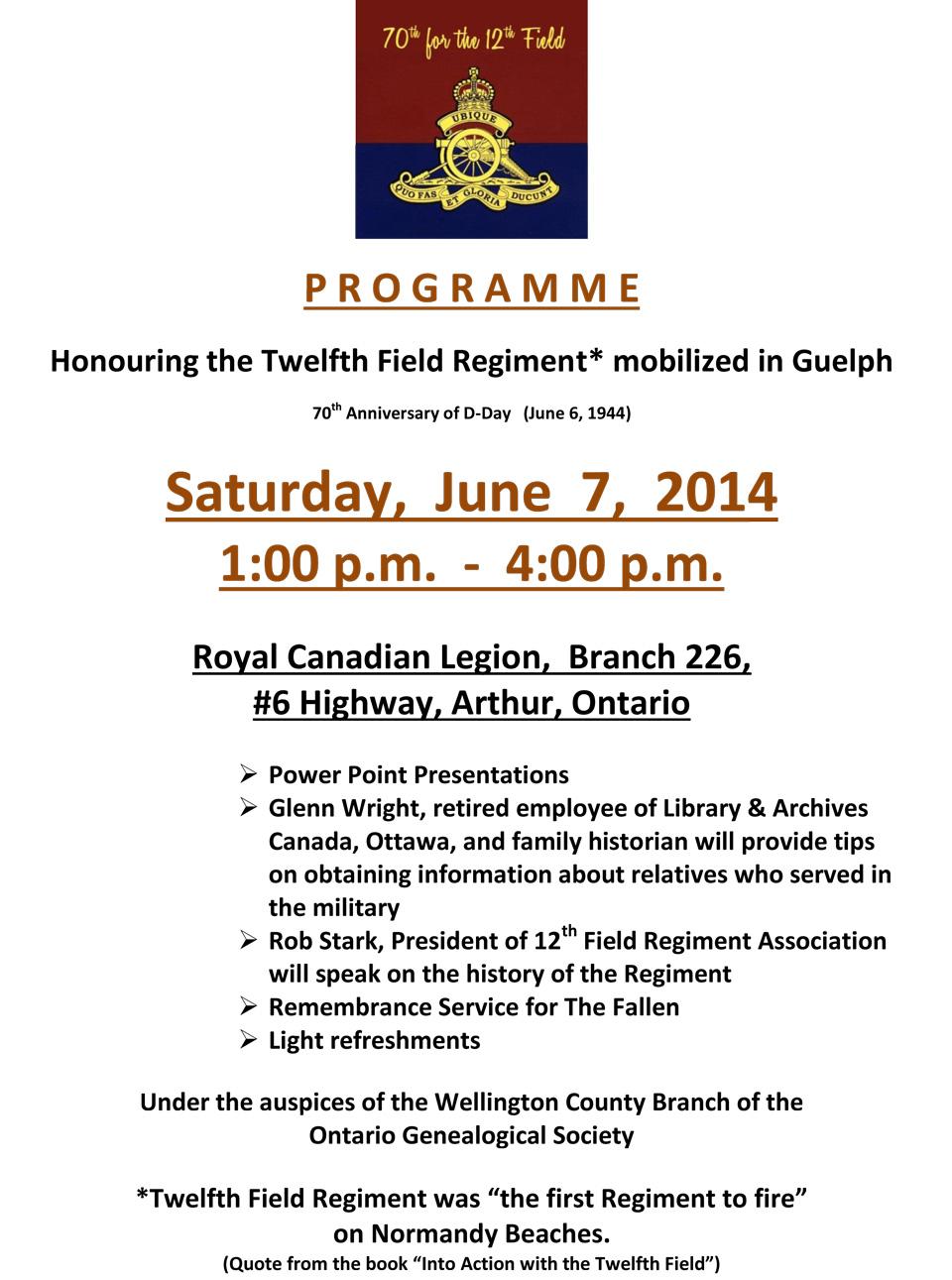 Twelfth-Field-Programme-Announcement