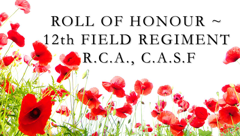 HONOUR ROLL 12TH FIELD REGIMENT R.C.A. VIDEO