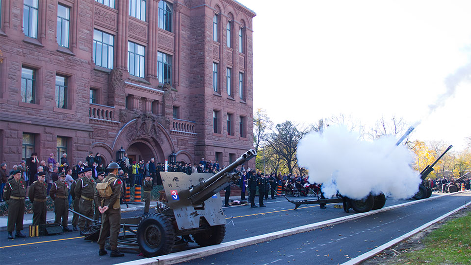 Remembrance Day ~ 21 Gun Salute at Queen's Park