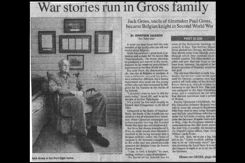 Major John W. Gross-news-article