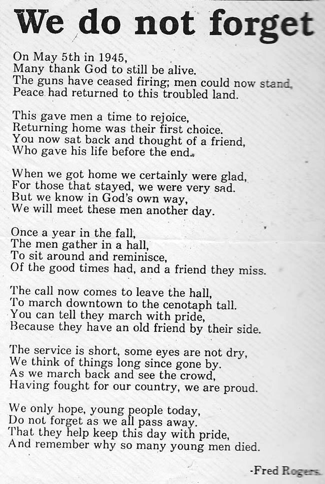 Poem by Fred Buck- Rogers-12thField