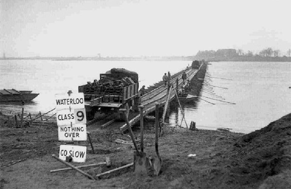 First CANADIAN Field Regiment over the river RHINE