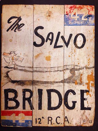Salvo Bridge sign-12th Field-original