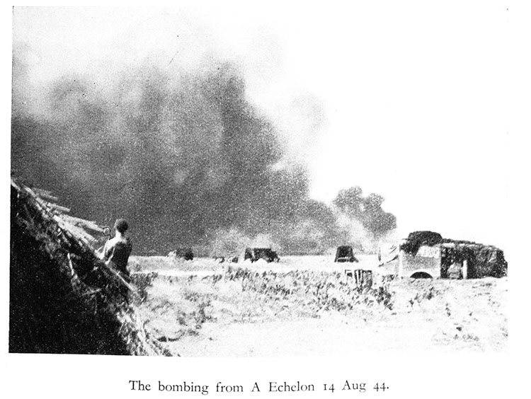 The bombing from A Echelon Aug 14, 1944