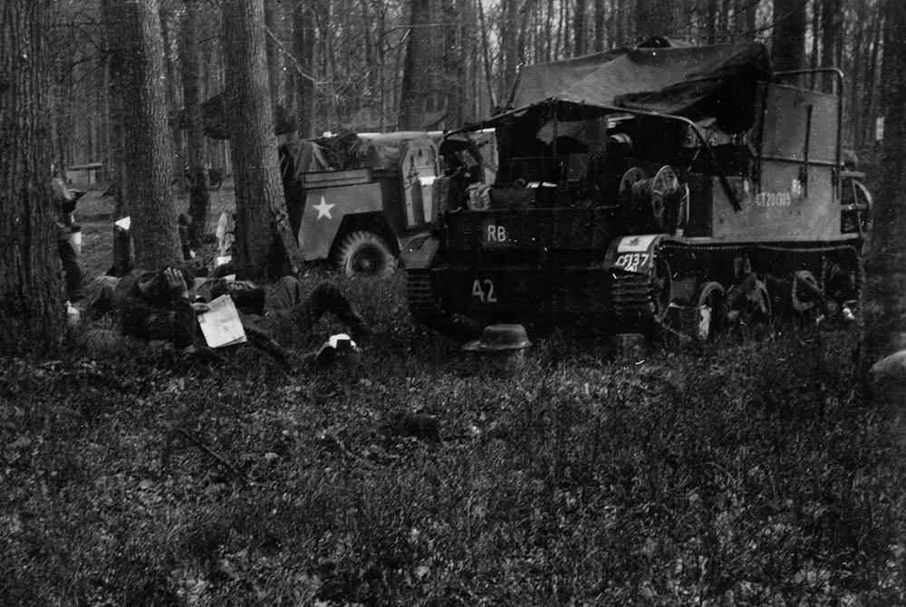 12th Field Bivouac in Forest, France 1944