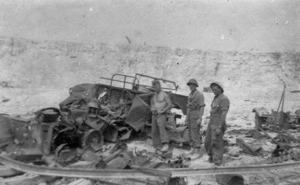August 14: Quarry bombing aftermath, Falaise France 1944