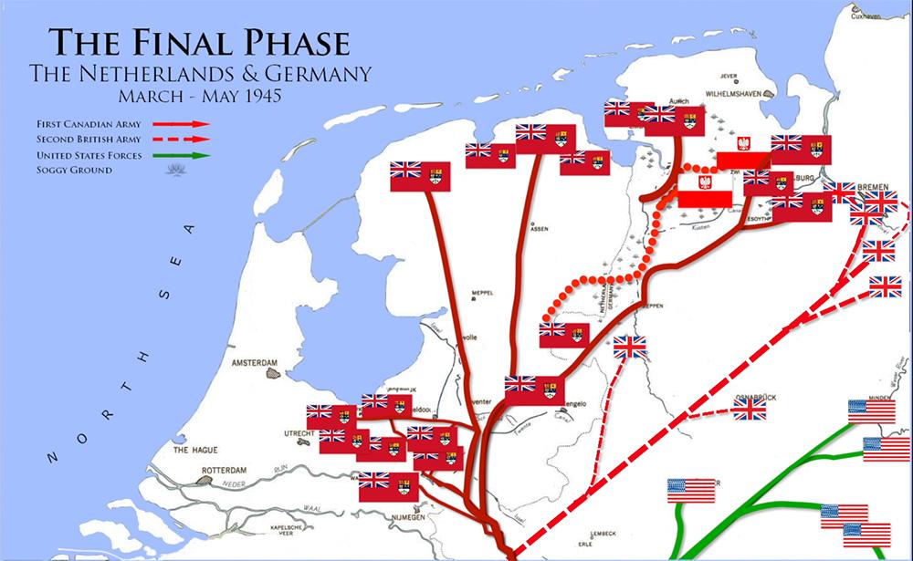 Final Push  Netherlands-Germany- 1945